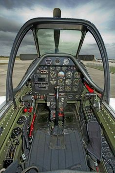 """Cockpit of """"Crazy Horse"""", the Mustang that I had an opportunity to fly during a trip to Kissimmee, Florida. Ww2 Aircraft, Fighter Aircraft, Military Aircraft, Fighter Jets, Aircraft Interiors, P51 Mustang, Ww2 Planes, Flight Deck, War Machine"""