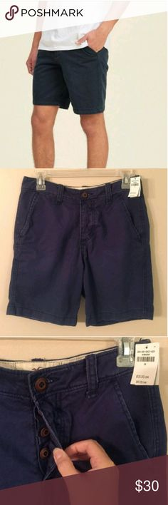 """HOLLISTER Button -Fly Shorts NWT!!! BUTTON FLY SHORTS W/7""""INSEAM Hollister Shorts Flat Front"""