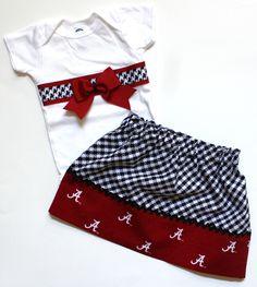 Alabama Baby Shirt & Skirt  Paisley Heart Creations - Ebay