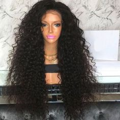 CARINA perruque Lace wig sans colle bouclée Lace Front, Carina, Virgin Hair, Extensions, Wigs, Ready To Wear, Hair Color, How To Apply, Wonder Woman