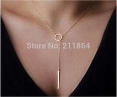 NK547 Hot Wholesale Womens Unique Charming Tone Bar Circle Lariat Pendant Necklace Wedding For Girl Jewelry Accessories-in Pendant Necklaces from Jewelry on Aliexpress.com | Alibaba Group