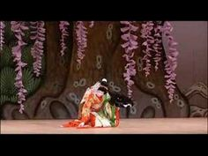 Tamasaburo - Wisteria Maiden pt 1.  Tamasaburo is a Kabuki actor, and the most popular and celebrated onnagata (an actor specializing in female roles) currently on stage. {with the narration, I get the story}