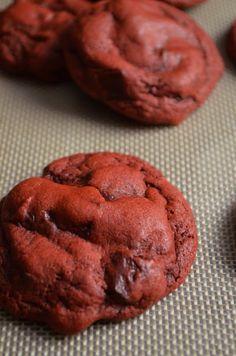 For the Love of Dessert: Red Velvet Pudding Cookies