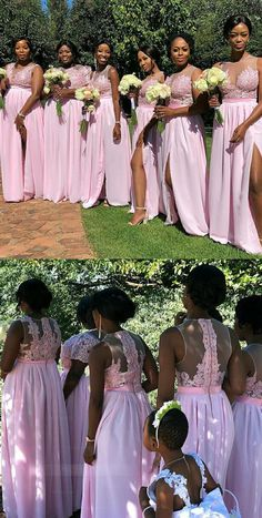 Round Neck Sleeveless Side Split Chiffon Bridesmaid Dresses in 2020 African Bridesmaid Dresses, Inexpensive Bridesmaid Dresses, Burgundy Bridesmaid Dresses Long, Affordable Prom Dresses, Wedding Bridesmaid Dresses, Cheap Wedding Dress, Wedding Gowns, Lace Bridesmaids, Elegant Dresses