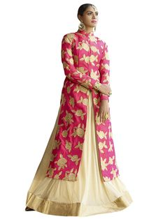 Off-white & Red Color Wedding Wear Embroidered Lehenga Choli