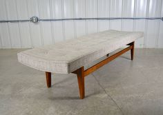 Jens Risom 6' Walnut Bench