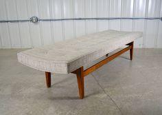 Jens Risom 6' Walnut Bench