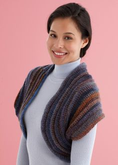 Image of Snap-It Shrug/Cowl. Two ways to wear the shrug, or folds around neck as a scarf.