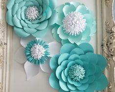 Paper Flower Arrangement - Nicolette 15 sets of flowers All details via email All details via convo.