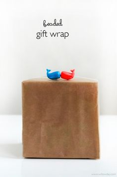 Gift Wrap Series #2: Beaded Wrapping Paper   Personalize Gift wrap, quick and easy! Kids love making bead necklaces and kids over wearing ...