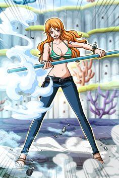 One piece nami anime art Sabo One Piece, One Piece Comic, One Piece Luffy, One Piece Anime, Anime Couples Manga, Cute Anime Couples, Anime Girls, Female Characters, Anime Characters