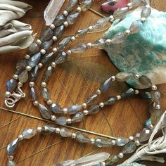 #Repost @ariahealing  This Long Labradorite beauty functions as a wrap bracelet and necklace; now relisted in the shop; one of my favorite pieces; the flash is amazing!! I've extended the 14% off coupon code one more day! Thanks for all of your orders! I so appreciate you!  Code VALENTINE is still good for 14% off until midnight (tonight!) EST  #love #Valentine #gratitude #sendoutlove #etsyshop #hematite #shopupdate #loveyourself #hilltribesilver #labradorite #chakra #valentinesdaysale…