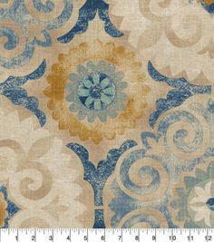 Waverly Upholstery Fabric 54''-Indigo Captivated