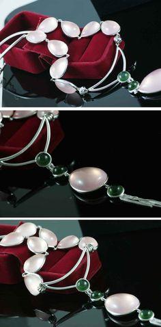 Romantic Elegant Madagascar Luxury Genuine Star Rose Quartz Necklace