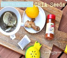 Quick-Fix Cure for Bloating and Indigestion - Detox Tea Recipe with Chia Seeds | Look Good Naturally