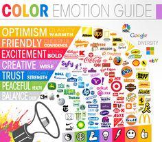 Il mood dei brand espresso attraverso i colori dei loghi #branding #colours #emotions #mktg #logo #digitalic