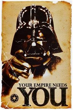 Star Wars Your Empire Need You Poster - #starwars #poster #funny #darthvader @ https://starwargift.com/product/star-wars-empire-need-poster/
