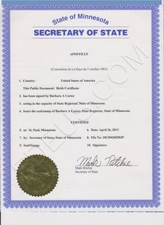 Nevada apostille if you need your las vegas marriage certificate minnesota apostille is a seal that will make your minnesota document valid outside the united states apostilles can be applied to many kinds of documents solutioingenieria Gallery