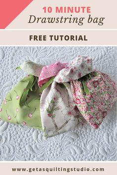 Drawstring bag tutorial - 10 minutes are required!