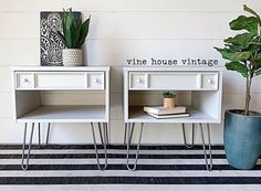 White Painted Nightstands. White Furniture