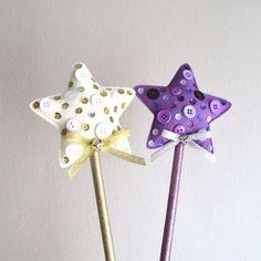 Magic Wand wool felt star  felt magic wand sequins buttons