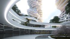 Genesis, Mixed-use development on Behance Mixed Use Development, Opera House, Behance, Architecture, Building, Behavior, Construction, Architecture Design, Opera