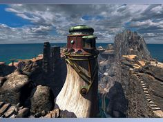 Myst 3. I love the Myst series. Gorgeous, immersive, surreal, intensely moody and emotional. Super-duper cool.