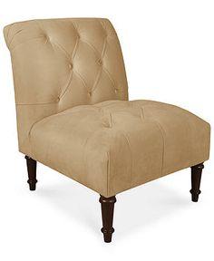 "Bradbury Fabric Accent Chair, 25""W x 33""D x 35""H - Chairs - furniture - Macy's"