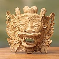Discover unique handcrafted treasures. Every purchase will help UNICEF save and improve children's lives and help support talented artisans. Wood mask, 'Magical Barong'