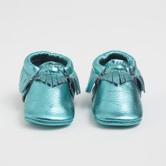 Iced Mint - Limited Edition Leather Moccasins for kids  - our newest color release - #kidsshoes #kidsstyle #fashiontots #freshlypickedmoccs