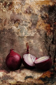 ARTFINDER: Red Onions by Randi Grace Nilsberg - Photo with textures.  This image belongs to a series of 3 different images.