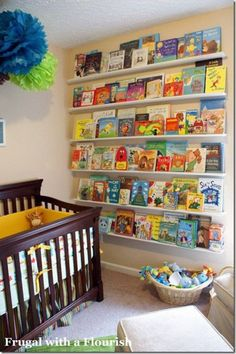 Nursery Bookshelf Decor