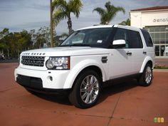 White Land Rover LR4, our next family car!