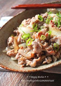 シンプル簡単!豚肉の生姜塩だれ炒め|たっきーママ@**happy kitchen**