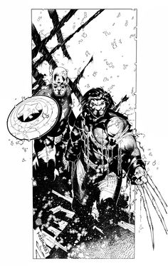 Ultimate War Art by: Tim Townsend  Weapon Zero and Weapon X from the Ultimate Universe!!