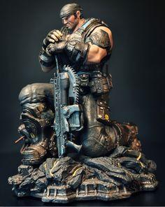 Marcus Fenix statue. Yeah, that's a lancer.