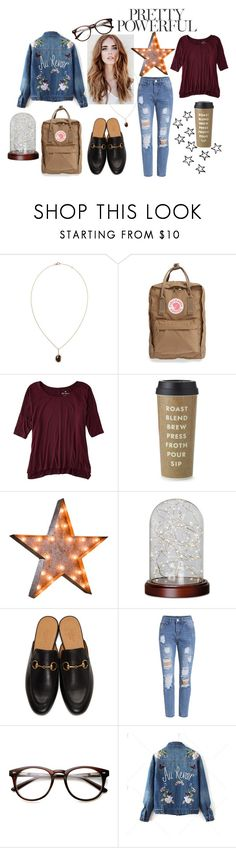 """""""Pretty Powerful"""" by letty-cr on Polyvore featuring moda, Saqqara, Fjällräven, American Eagle Outfitters, Kate Spade, Vintage Marquee Lights, Order Home Collection e Gucci"""