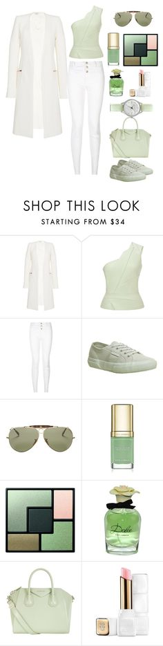A Hint Of Mint by southindianmakeup1990 on Polyvore featuring Roland Mouret, Thierry Mugler, New Look, Superga, Givenchy, Ted Baker, Ray-Ban, Yves Saint Laurent, Dolce&Gabbana and Guerlain