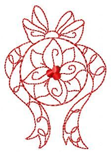 Xmas Ornaments - Free Instant Machine Embroidery Designs Christmas Embroidery Patterns, Embroidery Patterns Free, Vintage Embroidery, Ribbon Embroidery, Embroidery Applique, Machine Embroidery Designs, Embroidery Stitches, Christmas Sewing, Christmas Crafts