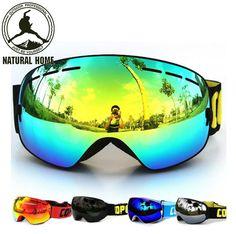 dd9cae1d5555 NaturalHome Ski Goggles Double UV400 Anti-fog 2017 Ski Mask Glasses Skiing  COPOZZ Men Women