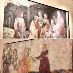 Stumbled upon these #boticelli #frescos which were discovered in the loggia of a villa in #Italy that had been painted over... The #louvre purchased two of them the third was badly damaged which makes me wonder just how many priceless frescos currently remain painted over in Italian villas? #museum #paris #italianrenaissance #artist #art #france