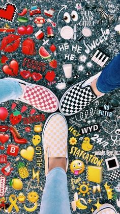 """A VSCO girl is someone whose lifestyle matches the aesthetic appeals of the VSCO app. Merriam-Webster specifies the """"VSCO woman"""" as . Well, really, . Cute Vans, Cute Shoes, Me Too Shoes, Emoji Pictures, Bff Pictures, Emoji Pics, Emoji Stuff, Tumblr Photography, Fashion Photography"""