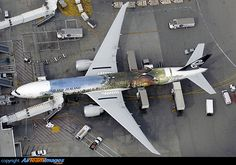 """The Hobbit"" sits on a gate at LAX terminal 2, being prepared for flight NZ1 to London Heathrow later in the afternoon"