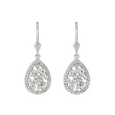 Penny Preville ~ Garland Diamond Drop Earrings at Bigham Jewelers, Naples Florida Jewelers