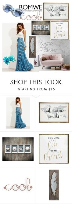 """""""Romwe"""" by selma-masic1 ❤ liked on Polyvore featuring Oliver Gal Artist Co., Umbra, 3R Studios, Pinko and vintage"""