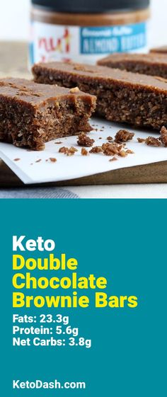 Trying this Double Chocolate Brownie Bars and it is delicious. What a great keto recipe. #keto #ketorecipes #lowcarb #lowcarbrecipes #healthyeating #healthyrecipes #diabeticfriendly #lowcarbdiet #ketodiet #ketogenicdiet