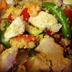 Vegetable chicken cous cous