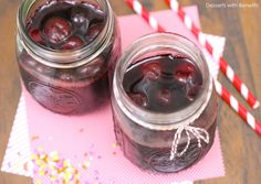 Healthy Homemade Maraschino Cherries (all-natural with no sugar added!) - Healthy Dessert Recipes at Desserts with Benefits