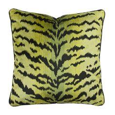 Scalamandre Green Tiger Velvet