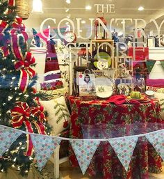 Still after some festive decorations for your home this holiday season? Then head over to the Country Store on Main in Stowe VT for snowflake bunting and beautiful red and green bunting with shimmery gold detailing (you can see it in the background of this photo) These are only available from here as  sold out in the NessaFoye Etsy shop. Hurry over before they're all gone!